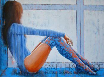 """Renata Magda-""""w sennym zamyśleniu ...""""-Akryl"""