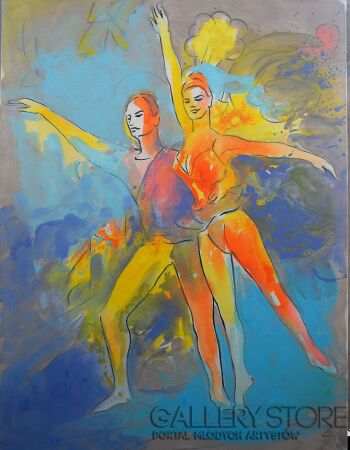 Roman Kaczmarek-Barwy baletu-Akryl