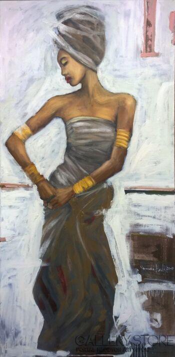 Romuald Mulk Musiolik-Kobieta Egiptu-Olej
