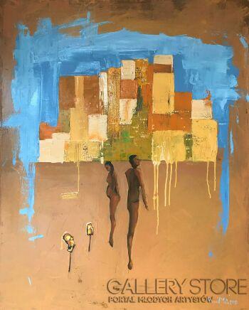 Romuald Mulk Musiolik-Kochanie, spójrz jakie abstrakcyjne-Olej