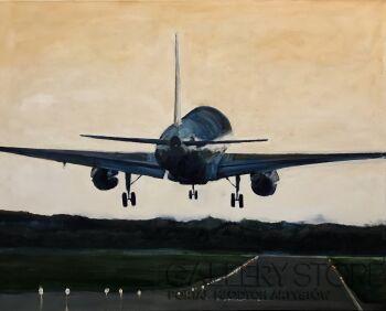 Romuald Mulk Musiolik-Lądowanie w Dublinie-Olej