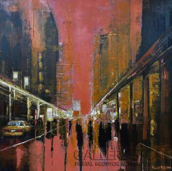 Romuald Mulk Musiolik-Pink Panther Weather -Olej