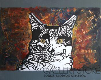 Sewer Niedzwiecki-Kocie Oczy-Giclee