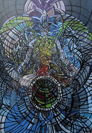 Sewer Niedzwiecki-Medytacja-Giclee