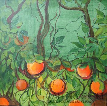 Sylwia Mirowska-drzewko pomarańczy-Akryl