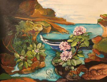 Sylwia Mirowska-zatoka rododendron-Technika mieszana