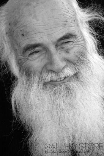 Szczepan Kurzeja-Smiling old man-Fotografia