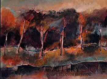 Szymon Adamczyk-Jesienne drzewa-Akryl