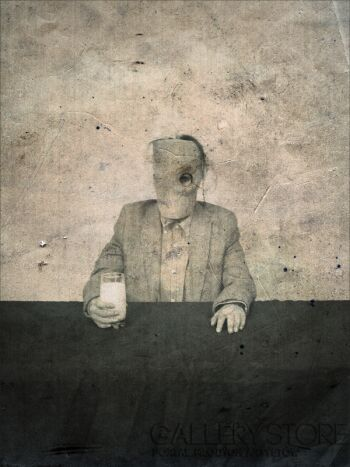 talat darvinoğlu-joseph merrick pijący mleko-Fotografia