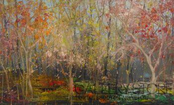 Tomasz Groma-W lesie '20-Olej