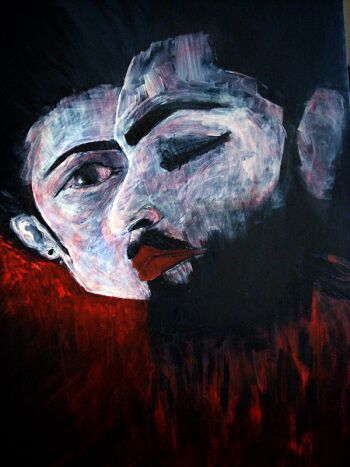 Viola Pryba-Hadaś aka PFISHOVA-Red-Akryl