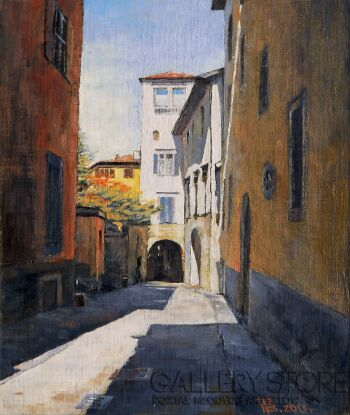 Wiaszesław Rogin-Bergamo.Via Tassis-Olej