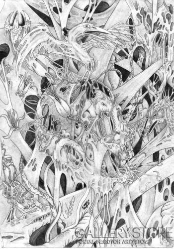 Wiktor Tabak-Głowa pełna snów-Rysunek