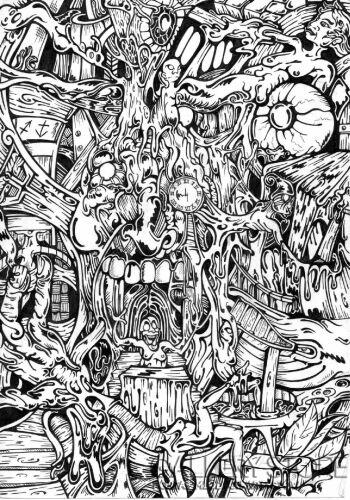Wiktor Tabak-Krzyk czasu-Rysunek