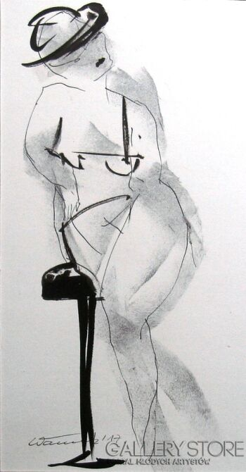 Włodek Warulik-BAROWA LADY-Rysunek