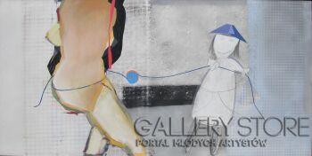 Włodek Warulik-PORANNE ZABAWY-Akryl
