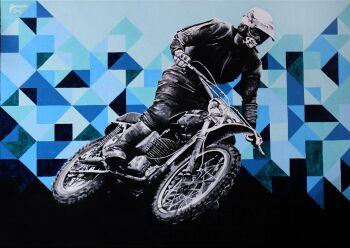 Zuzanna Jankowska-Motocyklista-Akryl