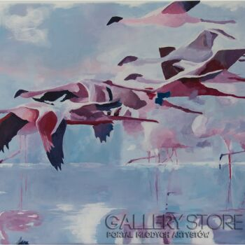 Adriana Bielenik-Flamingi-Akryl