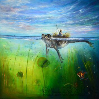 Agata Buczek-Wszystko płynie-Akryl