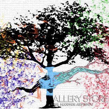 Alicja Nowak-Drzewo twarz-Grafika