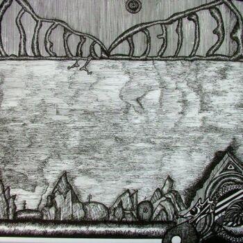 Amadeusz Popek-Samotny deszczowy dzien-Rysunek