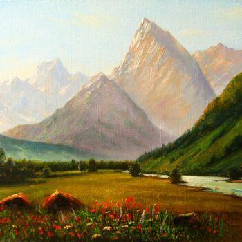 Andrei Chakhouski-Górski krajobraz-Olej