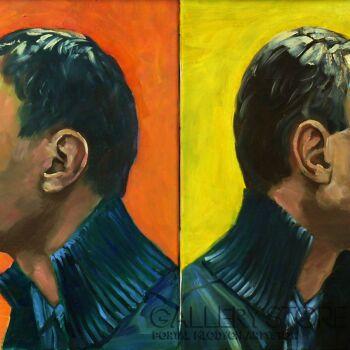 Andrzej Zujewicz-Autoportret wielokrotny-Olej