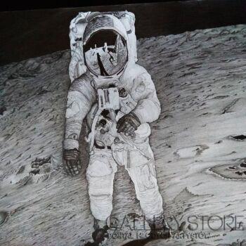 Mariusz Ramęda-Buzz Aldrin na Księżycu -Rysunek