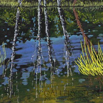 Angelika Mus-Nowak-Białe brzózki na wodzie-Rysunek