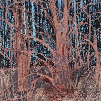 Angelika Mus-Nowak-Czerwonym światłem usypiane drzewa-Rysunek