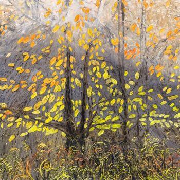 Angelika Mus-Nowak-Odrzucone liście rozjaśniają mgłę- Rysunek