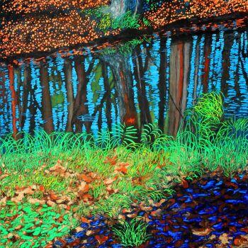 Angelika Mus-Nowak-Pozornie wśród wielu drzew, a naprawdę tylko z własnym cieniem-Rysunek