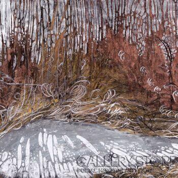 Angelika Mus-Nowak-Schowany przed światłem śnieg-Rysunek