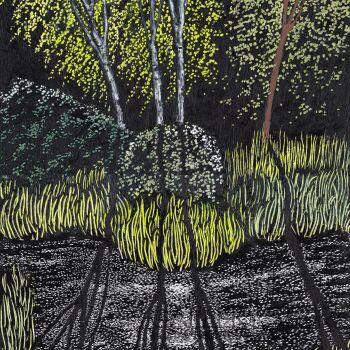Angelika Mus-Nowak-W migotaniu odciśnięte drzewa-Rysunek