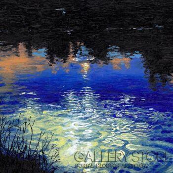 Angelika Mus-Nowak-Wodą zmieszane niebo-Rysunek