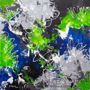 Ania Stępień-Atomowa burza-Akryl