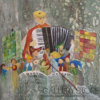 Anna Jakubowska-Akordeonista-Technika mieszana