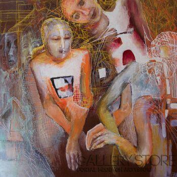 Anna Lupa-Suchy-Poszukujący doznań estetycznych-Olej