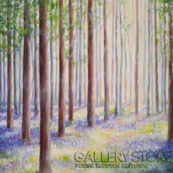 """Anna Pawlak-""""Fiołkowy las""""-Akryl"""