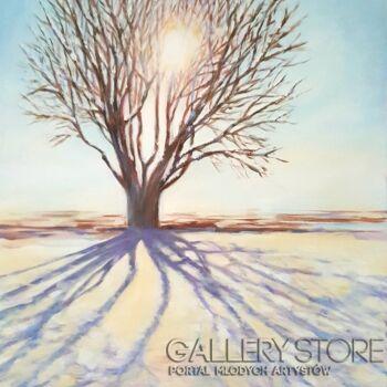 """Anna Pawlak-""""Zimowe drzewo""""-Akryl"""