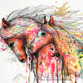 Barbara Soborak-Konie-Rysunek