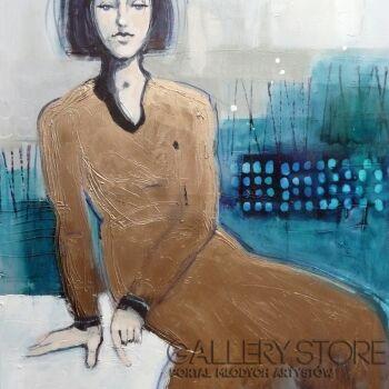 Barbara Zabłocka-złota suknia 2-Akryl