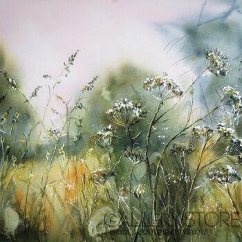 Boźenna Niewinowska-czerwcowa łąka-Akwarela