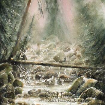 Boźenna Niewinowska-Górski strumień -Akwarela