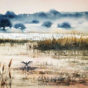 Boźenna Niewinowska-Kraina ptaków-Akwarela