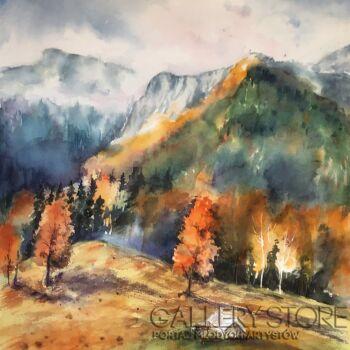 Boźenna Niewinowska-W górach-Akwarela