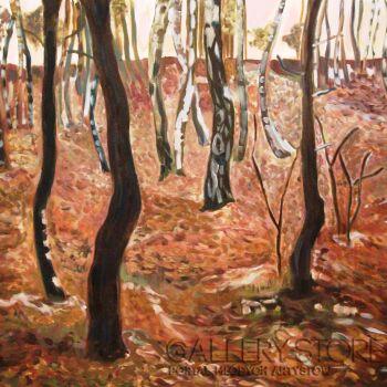 Dagmara Wrona-Las przed zimą-Olej