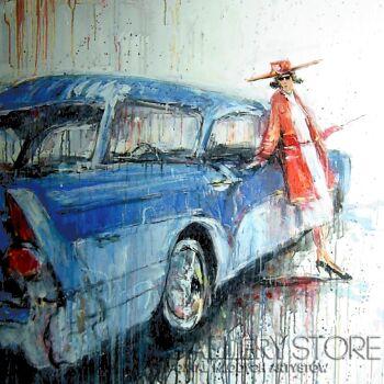 Dariusz Grajek-Auto i kobieta....-Akryl