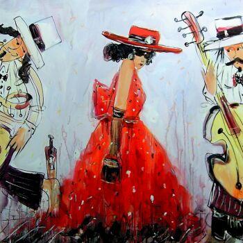 Dariusz Grajek-Muzycy i dziewczyna...-Akryl