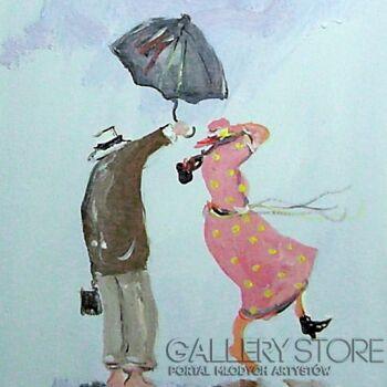 Dariusz Grajek-Parasol i sukienka....-Akryl